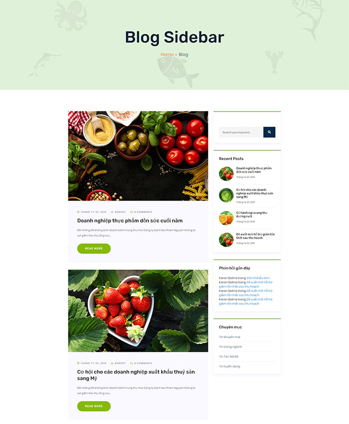 Mẫu website doanh nghiệp sản xuất & chế biến thực phẩm 04