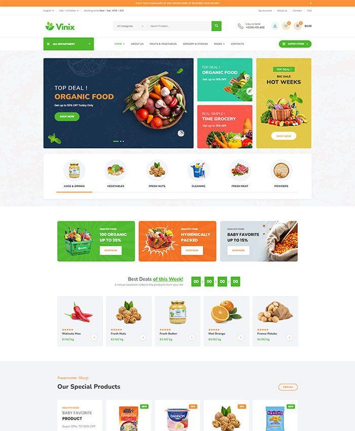 Mẫu thiết kế web công ty sản xuất, chế biến thực phẩm 01