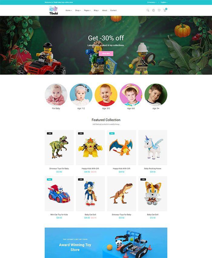 Mẫu website bán hàng trẻ em 02