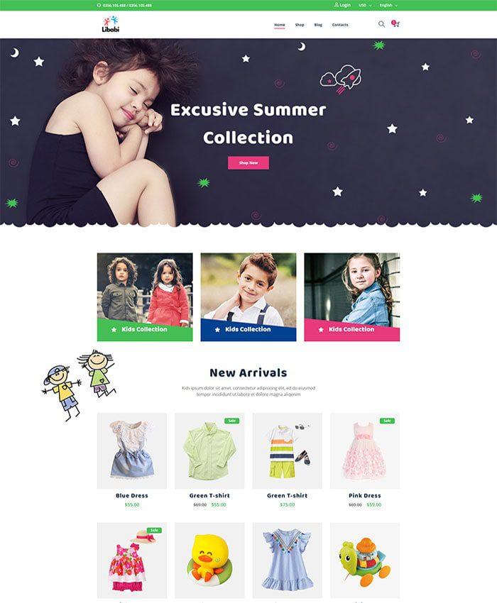 Mẫu website bán đồ chơi trẻ em 01