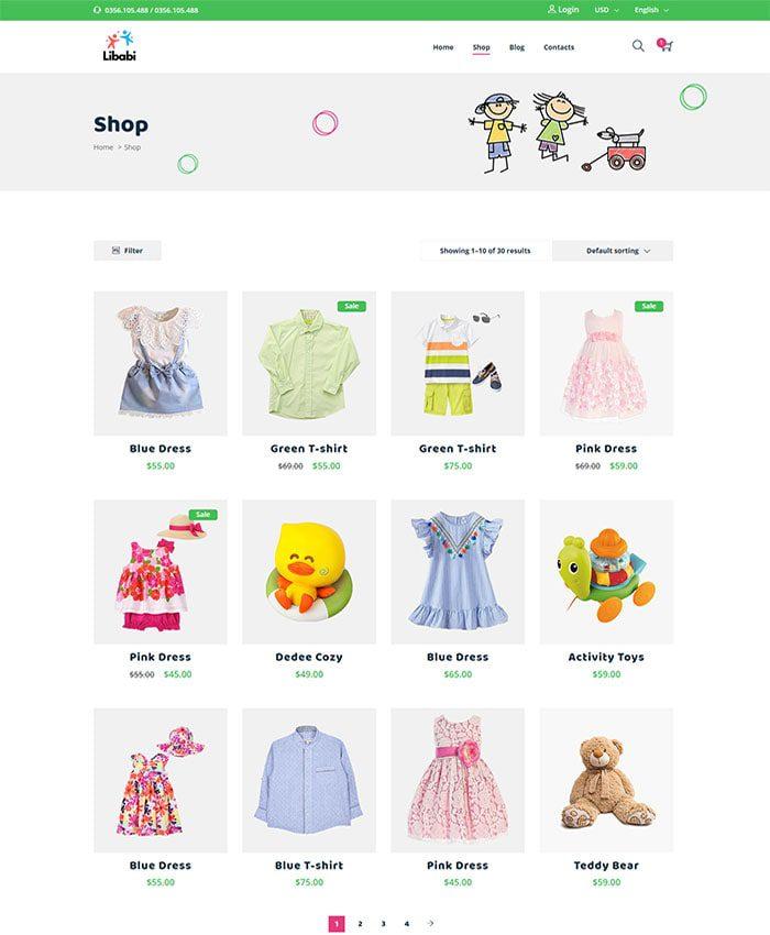 Mẫu website bán đồ chơi trẻ em 02