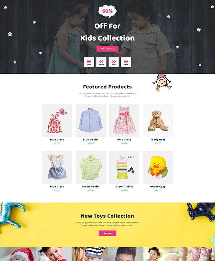 Mẫu website bán đồ chơi trẻ em 04
