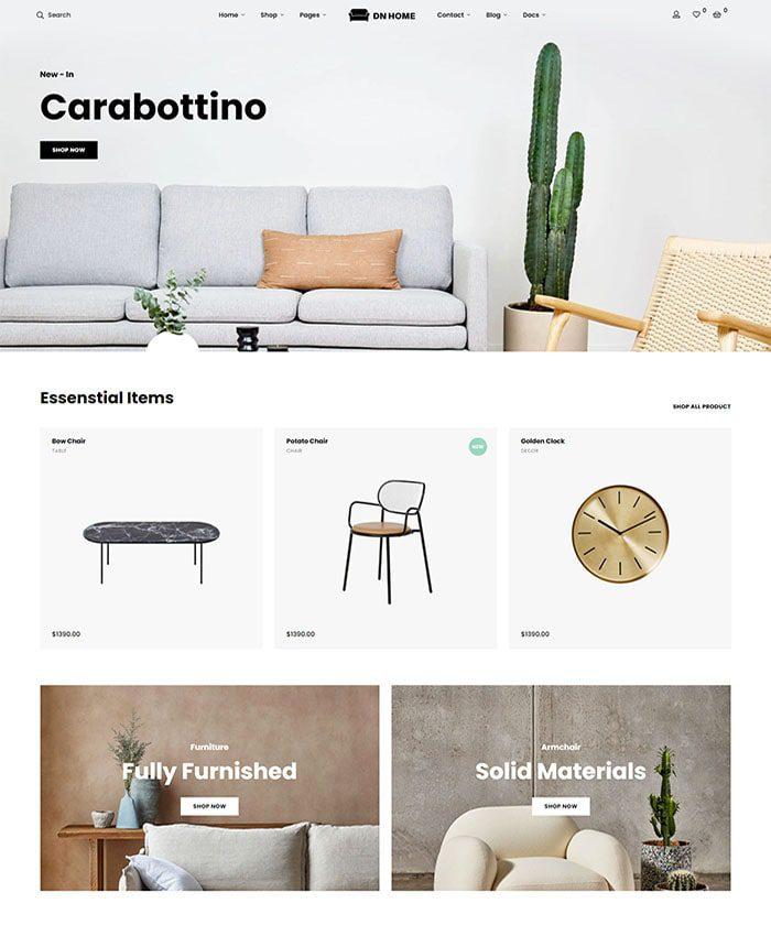 Mẫu website cửa hàng nội thất đẹp 03