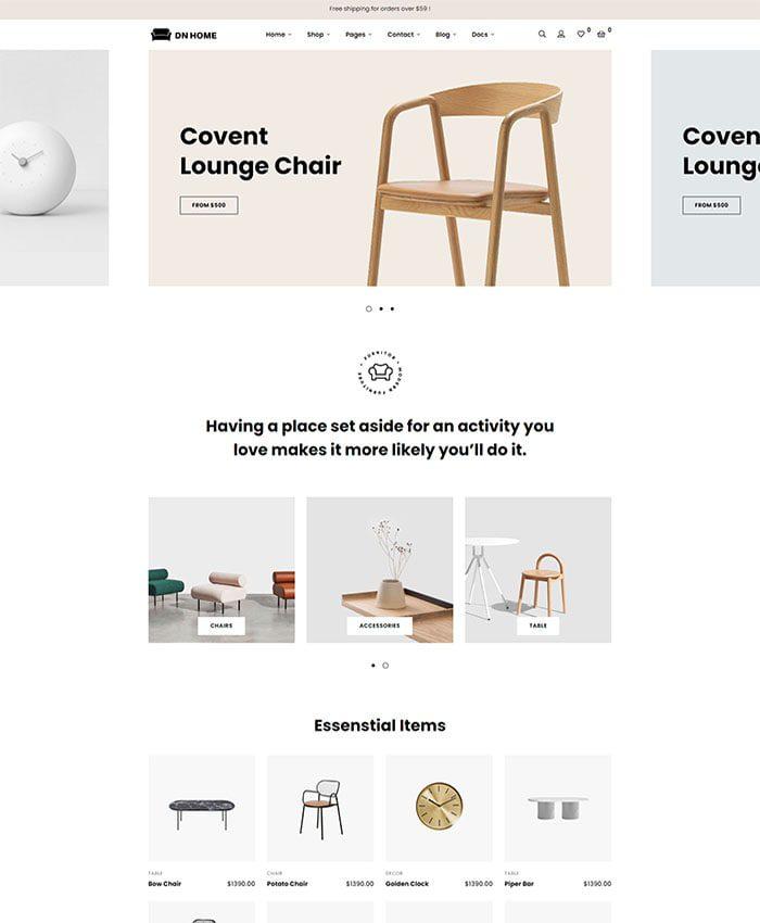 Mẫu website cửa hàng nội thất đẹp 04