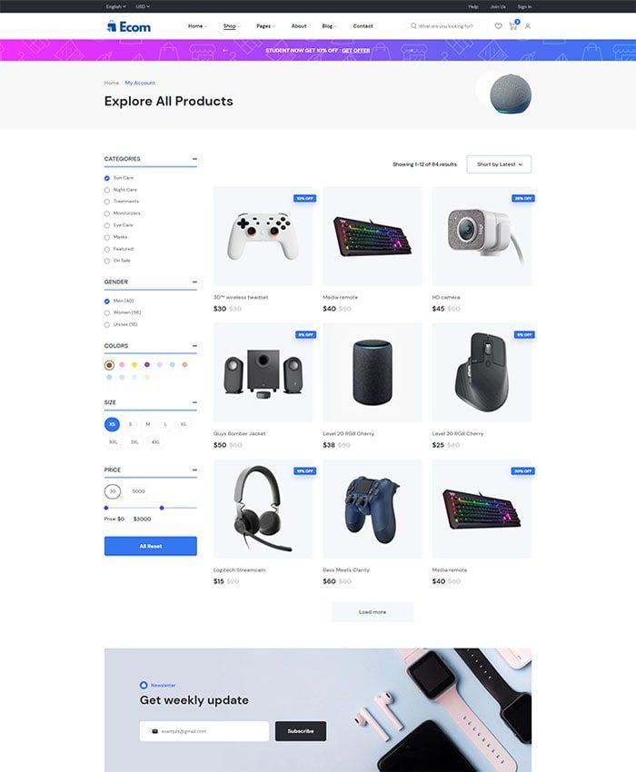 Mẫu website bán phụ kiện điện thoại đẹp 02