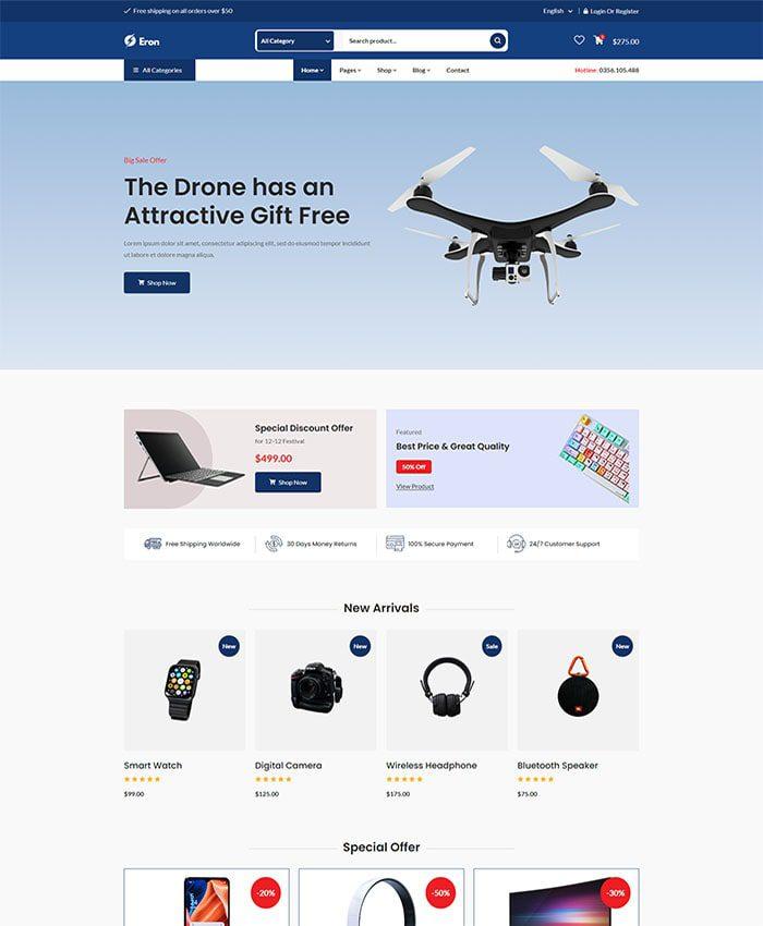 Mẫu website bán hàng phụ kiện điện thoại đẹp 01