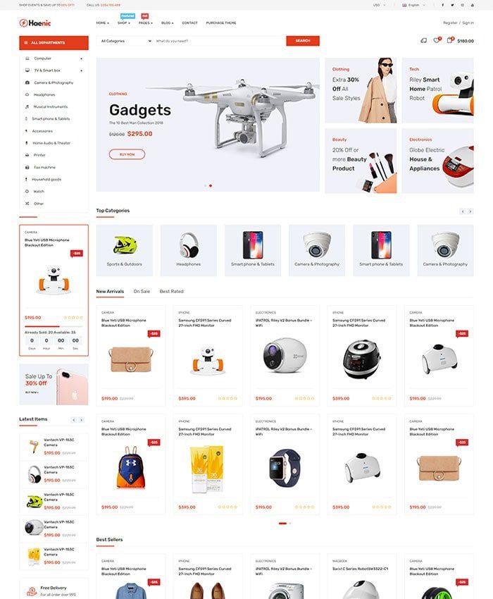 Thiết kế web linh phụ kiện điện thoại đẹp 01
