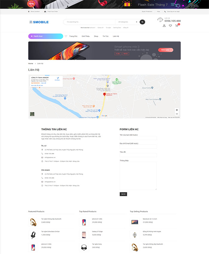 Mẫu website phụ kiện điện thoại đẹp 04