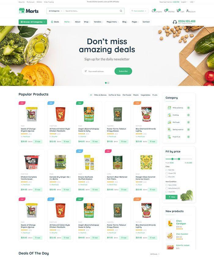Mẫu web bán thực phẩm chức năng 03