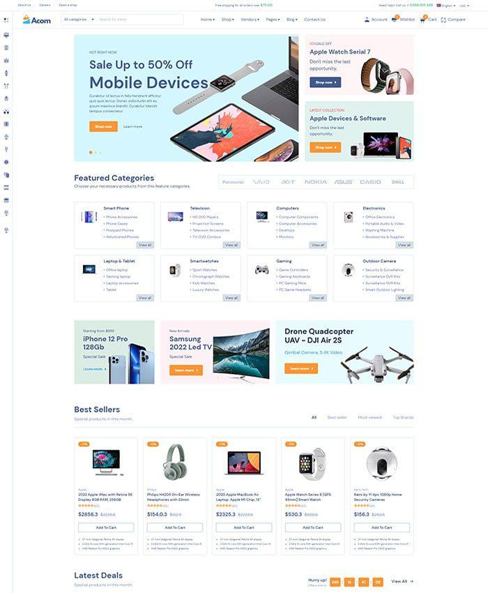 Mẫu website bán hàng phụ kiện 01