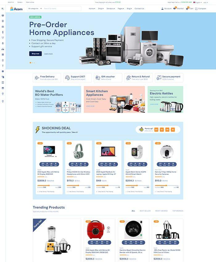 Mẫu website bán hàng phụ kiện 02