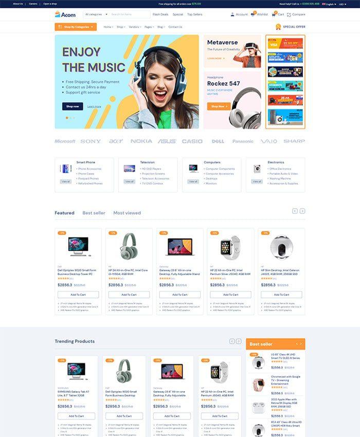 Mẫu website bán hàng phụ kiện 03