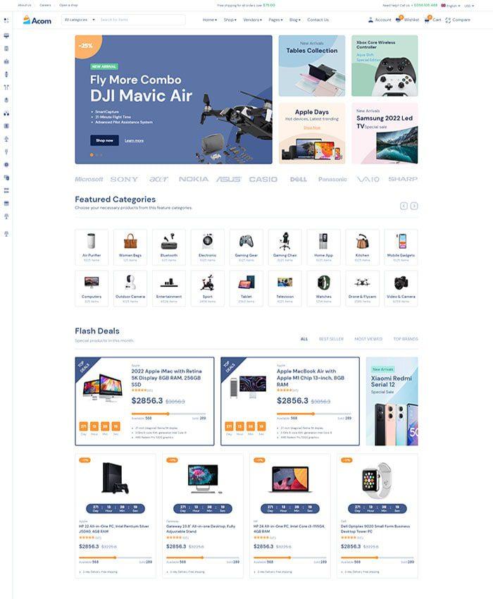 Mẫu website bán hàng phụ kiện 04