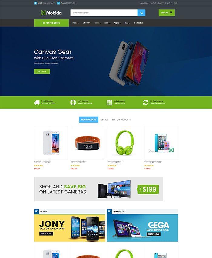 Mẫu web bán phụ kiện điện thoại 01