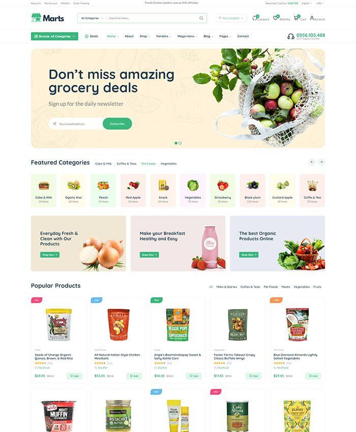 Mẫu web bán thực phẩm chức năng 01