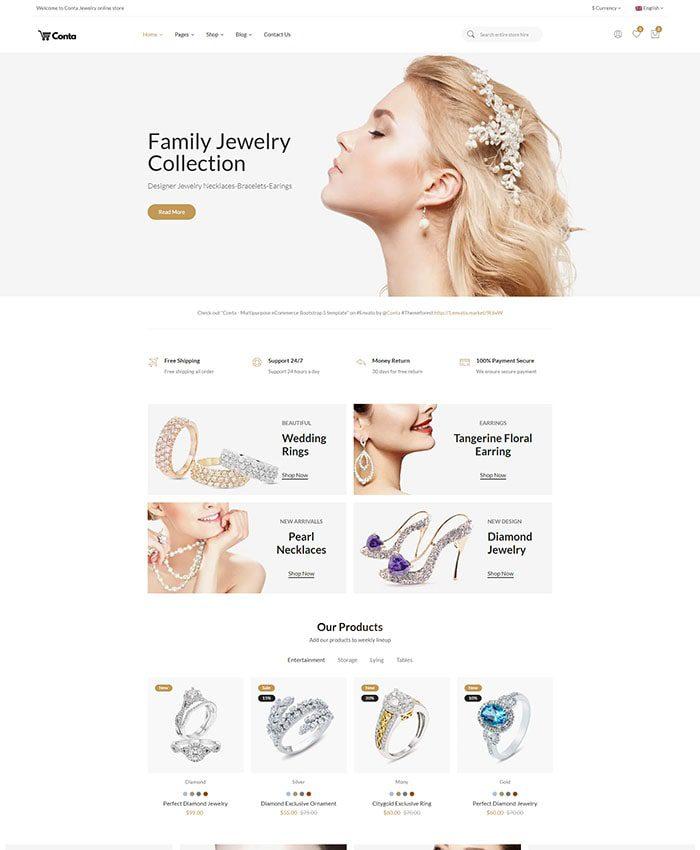 Thiết kế mẫu website bán trang sức 01