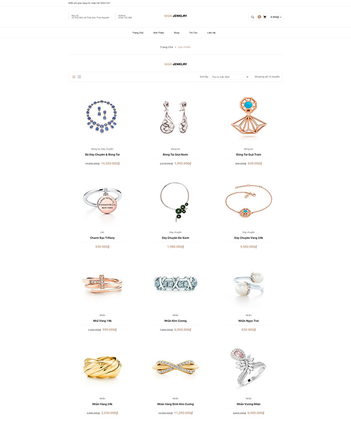 Thiết kế mẫu website bán trang sức 04