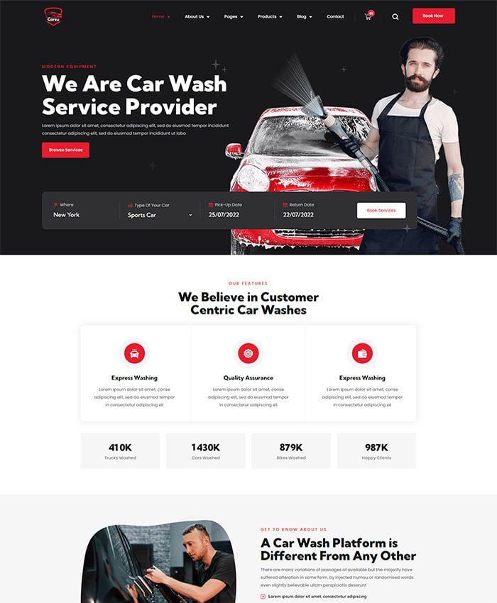 Thiết kế web bảo dưỡng ô tô 01