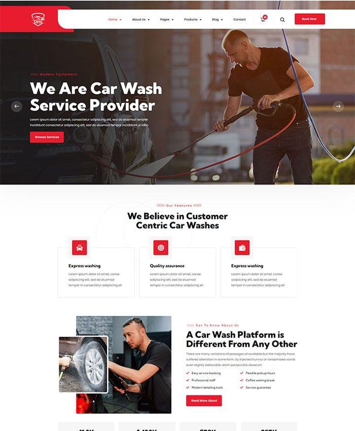 Thiết kế web bảo dưỡng ô tô 02