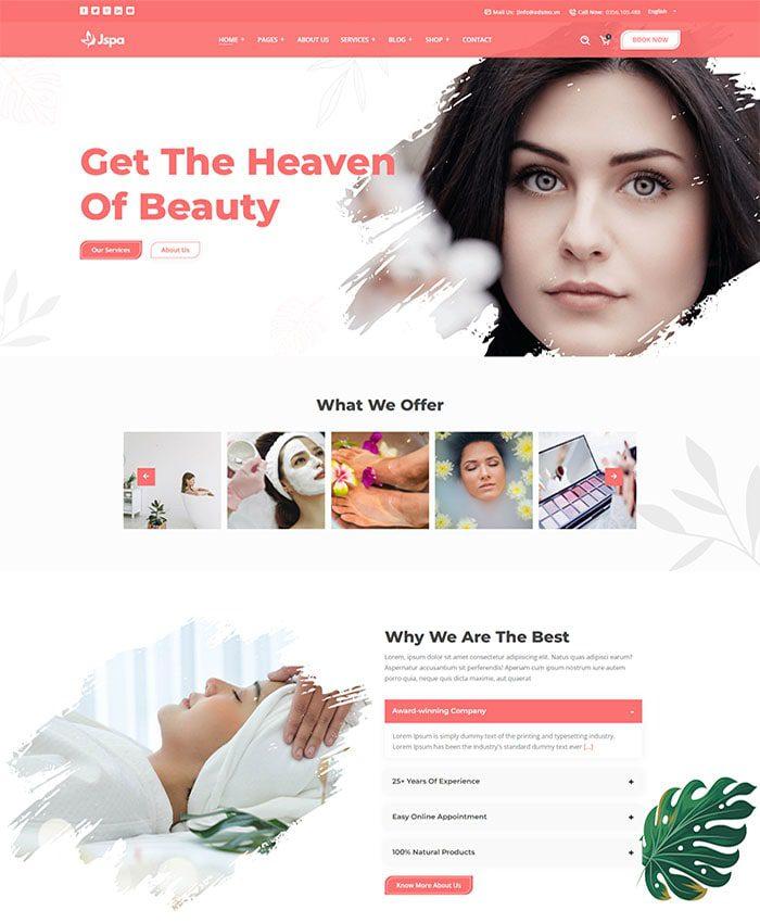 Mẫu website mỹ phẩm đẹp 01