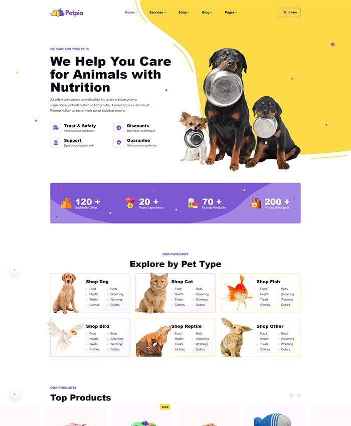 Thiết kế web thú cưng đẹp 02