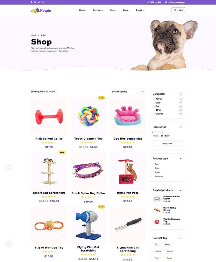 Thiết kế web thú cưng đẹp 04