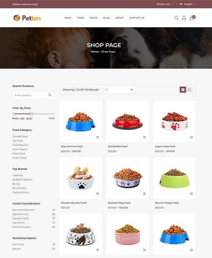 Mẫu web thú cưng chuẩn SEO 03