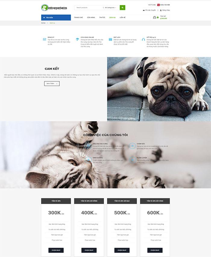 Thiết kế website thú cưng chuyên nghiệp 04