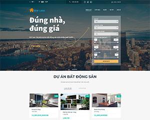 Mẫu website DNBD104 bất động sản đẹp