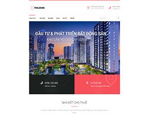 Mẫu website DNBD109 bất động sản đẹp