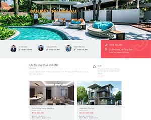 Mẫu website DNBD108 bất động sản đẹp của ADSMO