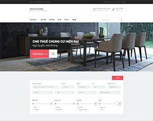 Mẫu website DNBD107 bất động sản đẹp của ADSMO