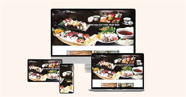 Thiết kế website nhà hàng, khách sạn đẹp