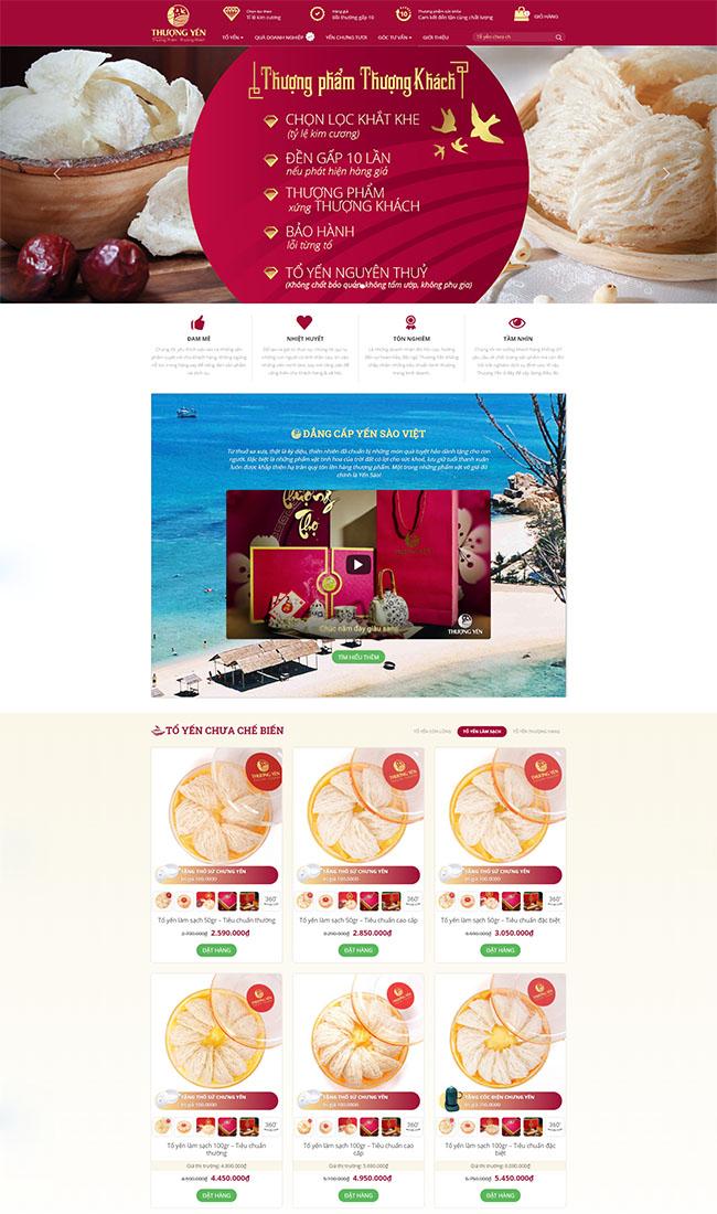 Thiết kế website yến sào và 4 lợi ích