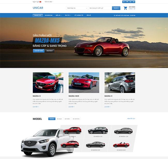 Xây dựng cấu trúc thiết kế website bán ô tô