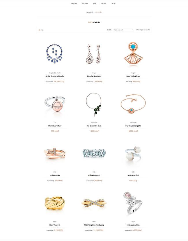 Chức năng thông tin trong thiết kế website giới thiệu sản phẩm