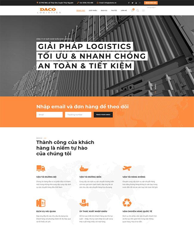 Thiết kế website logistic vận tải chuẩn SEO