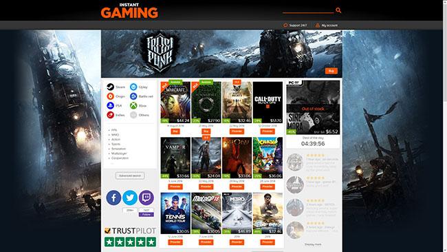 Thiết kế web game với giao diện, bố cục bắt mắt