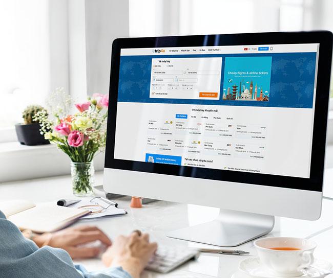 Giao diện thiết kế website vé máy bay thân thiện người dùng