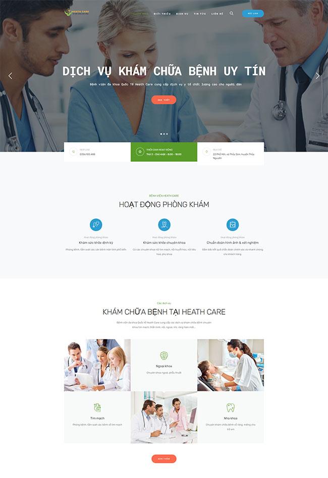 Một số mẫu thiết kế website bệnh viện của ADSMO