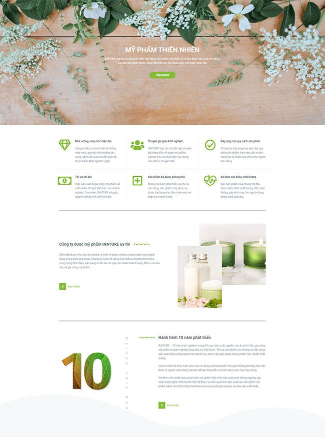 Chức năng, module thiết kế website bán mỹ phẩm