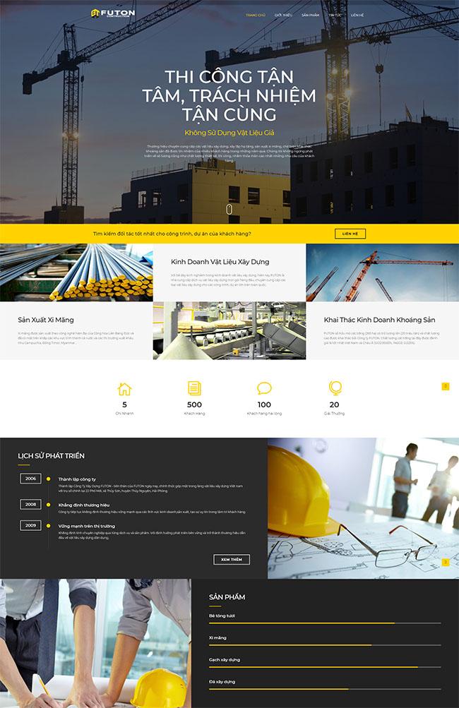 Quảng bá và phát triển thiết kế website công ty xây dựng