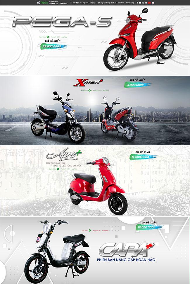 Vai trò của thiết kế web mua bán xe đạp điện