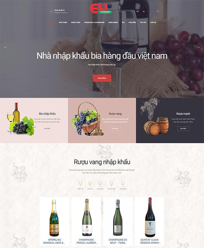 Thiết kế web công ty hàng tiêu dùng Euconsumer