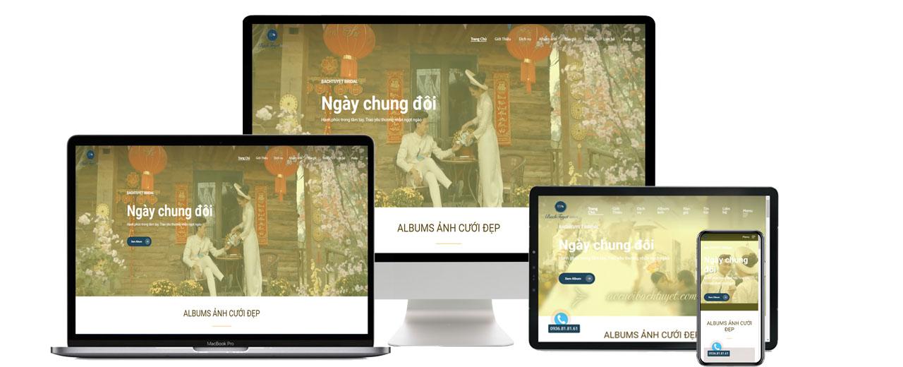 Thiết kế website áo cưới Bạch Tuyết