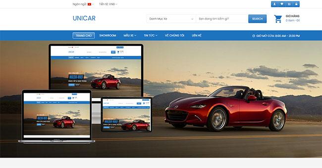 Thiết kế website bán ô tô đẹp – Hấp dẫn khách hàng
