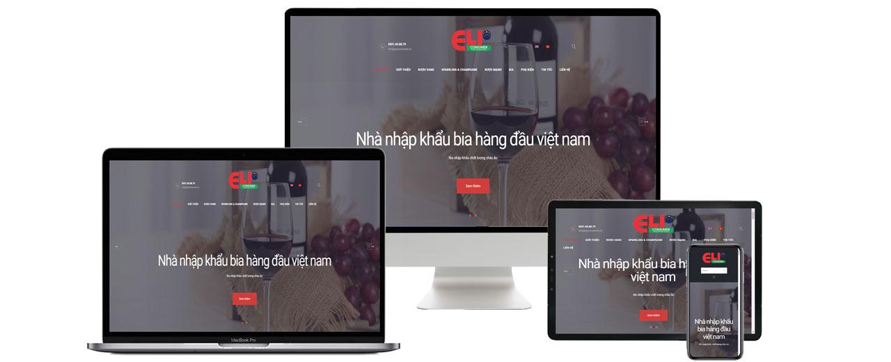 Thiết kế website công ty hàng tiêu dùng Euconsumer