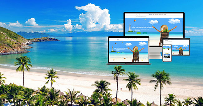 Thiết kế website du lịch chuyên nghiệp, thu hút triệu view mỗi ngày