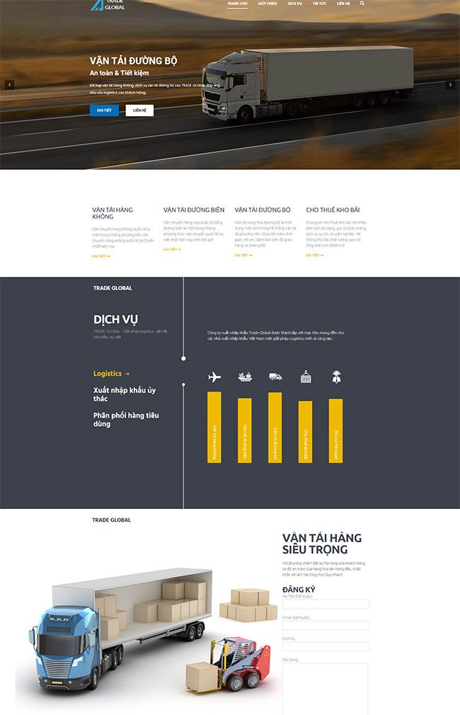 Thiết kế website logistic tăng trải nghiệm người dùng