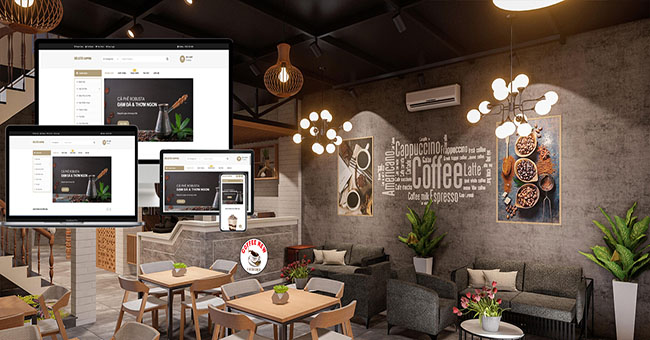 5 điểm vàng để thiết kế website quán cà phê hút khách